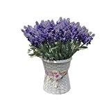 Zhangming®10 Têtes de Fleurs Artificielle Lavande Bouquet Fleurs artificielles Violet