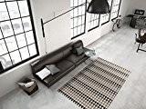 Zick Zack Tapis Géométrique Motif Moderne Poil Ras Tapis Multi Sable - Beige, 160cm x 230cm