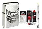 Zippo Harley Davidson Iron Eagle Emblem & Zippo Accessoires au choix + R S Tige Briquet Chrome, mit Zubehör XL