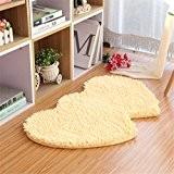 ZMZX*Accueil Simple double vaiselle forme coeur 50*80cm salle de bains cuisine d'aspiration de l'eau mariage tapis anti-dérapant tapis beige,Porte