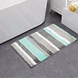 ZMZX*Bande double microfibre accueil tapis de bains ligne mat tapis anti-dérapant tapis de porte,vert clair