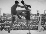Arann Reongchai and Prasong Chaimeeboon Beginning a Match of a Muay Thai Boxinig - Jack Birns