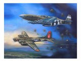 B-17 and P-51 Mustang - jack connelly