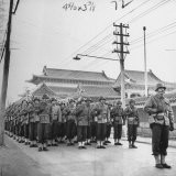 6th Division Marines Parading Through Streets - Jack Wilkes