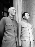 Chinese General Chiang Kai Shek Standing Side by Side with Communist Leader Mao Tse Tung - Jack Wilkes