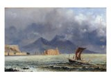 Storm Passing over Vesuvius, c.1840-50 - Jacob George Strutt