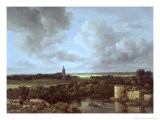 Landscape with Ruined Castle and Church, c.1665-70 - Jacob Isaaksz. Or Isaacksz. Van Ruisdael