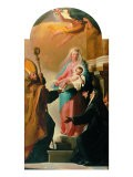 Madonna of the Belt, St Augustine and St Monica - Jacob-Philippe Hackert