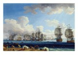 The Battle of Chesma on the 5th July 1770 - Jacob-Philippe Hackert