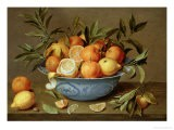 Still Life with Oranges and Lemons in a Wan-Li Porcelain Dish - Jacob Van Hulsdonck