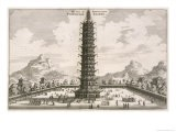 The Porcelain Tower, from an Account of a Dutch Embassy to China, 1665 - Jacob Van Meurs