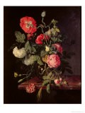Flowers in a Glass Vase, 1667 - Jacob van Walscapelle