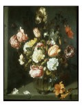 Tulips and Peonies in a Vase - Jacob Woutersz Vosmaer