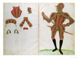 "Suit of Armour for Lord Compton, from ""An Elizabethan Armourer's Album"" - Jacobe Halder"