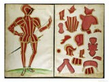 "Suit of Armour for the Earl of Leicester from ""An Elizabethan Armourer's Album"" - Jacobe Halder"