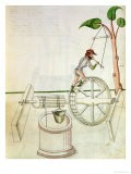 Man Putting into Motion a Wheel-Driven Well - Jacobi Mariani