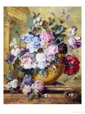 Still Life of Roses, Delphiniums and Tulips - Jacobus Linthorst