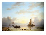 Ferry Leaving the Shore - Jacobus Nooteboom