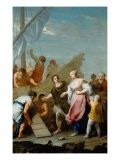 Embarkation of Helen for Troy - Jacopo Amigoni