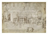 Architecture and Suzanne and the Two Old before Judge - Jacopo Bellini