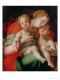 Madonna and Child with the Infant St. John the Baptist - Jacopo da Carucci Pontormo