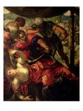 Battle Between Turks and Christians, circa 1588/89 - Jacopo Robusti Tintoretto