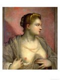Portrait of a Woman Revealing Her Breasts, circa 1570 - Jacopo Robusti Tintoretto