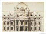 Design for the Ecole Militaire, Paris, 1751 - Jacques-Ange Gabriel