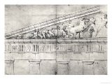 Study of a Pediment from the Parthenon - Jacques Carrey