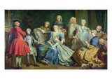 Madame Mercier Surrounded by Her Family, 1731 - Jacques Dumont