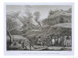 Great Asian Archipelago: French Explorers with Natives on Ombai, Voyage Autour du Monde - Jacques Etienne Victor Arago