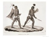 "Warriors from the Island of Ombai, from ""Voyage Autour Du Monde (1817-20)"" - Jacques Etienne Victor Arago"