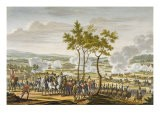 The Battle of Abensberg, 20 April 1809, engraved by Edme Bovinet - Jacques Francois Joseph Swebach