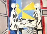 Deux personnages a table - Jacques Lagrange