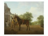 Gentleman Holding a Saddled Horse in a Street by a Canal, 18th-19th Century - Jacques-Laurent Agasse