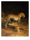 Two Leopards Lying in the Exeter Exchange, 1808 - Jacques-Laurent Agasse