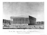 View of the Bourse Imperial Palace and the Commercial Court, Paris, Early 19th Century - Jacques Louis Constant Le Cerf