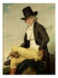 Portrait of Pierre Seriziat (1757-1847) the Artist's Brother-In-Law, 1795 - Jacques-Louis David