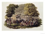 Camp Meeting of the Methodists in North America 1819 - Jacques Milbert