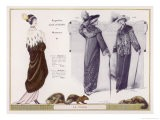 An Evening Mantle in Mink with an Ermine Cape Collar - Jacques Nam