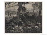 Arthur Fatally Wounded is Taken to Avalon a Celtic Paradise Where He Dies - Jacques & Pierre Bellenger