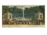 The Domes in the Garden at Versailles, Published by Laurie and Whittle, 1794 - Jacques Rigaud