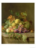 Still Life of Melons, Grapes and Peaches on a Ledge - Jakob Bogdani Or Bogdany