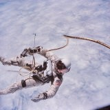 Gemini 4 Astronaut Edward H. White II Floating in Space During First American Spacewalk - James A. Mcdivitt