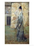 Arrangement in Flesh Color and Grey: the Chinese Screen - James Abbott McNeill Whistler