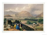 """Caubul, from a Burying Ground on the Mountain Ridge, from """"Sketches in Afghaunistan"""" - James Atkinson"""