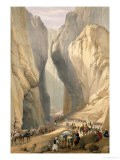"Entrance to the Bolan Pass from Dadur, from ""Sketches in Afghaunistan"" - James Atkinson"
