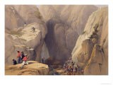 Entrance to the Kojak Pass from Parush, from Sketches in Afghaunistan - James Atkinson