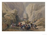 """The Opening into the Narrow Pass Above the Siri Bolan, from """"Sketches in Afghaunistan"""" - James Atkinson"""