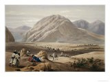View of the Baba-Naunee Mountain, from Sketches in Afghaunistan, Engraved by Charles Haghe - James Atkinson